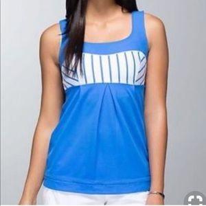 Lululemon blue Elevate Tank Top Workout Yoga 8